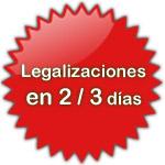legalización de documentos en 2 o 3 días